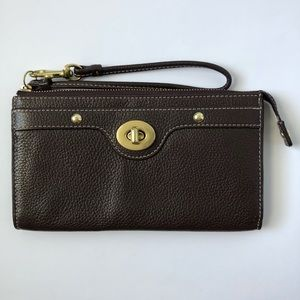 Coach Brown Leather Wrislet